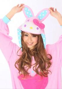 Hello Kitty Bunny Pink Kigurumi