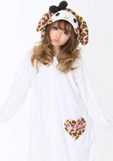 My Melody Heart Leopard Beige Kigurumi